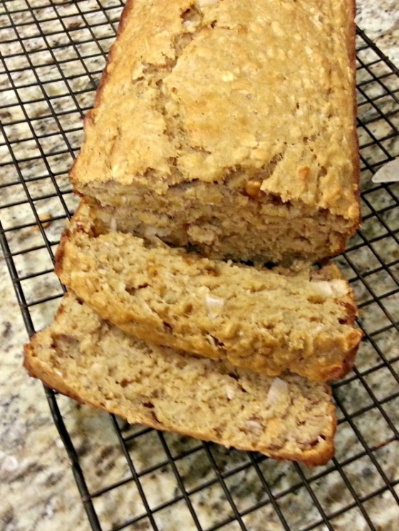 Ambitious Kitchen Chocolate Chip Coconut Banana Bread Sliced