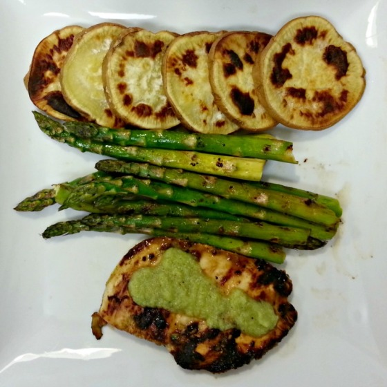 Coconut Basil Grilled Chicken Asparagus Sweet Potato