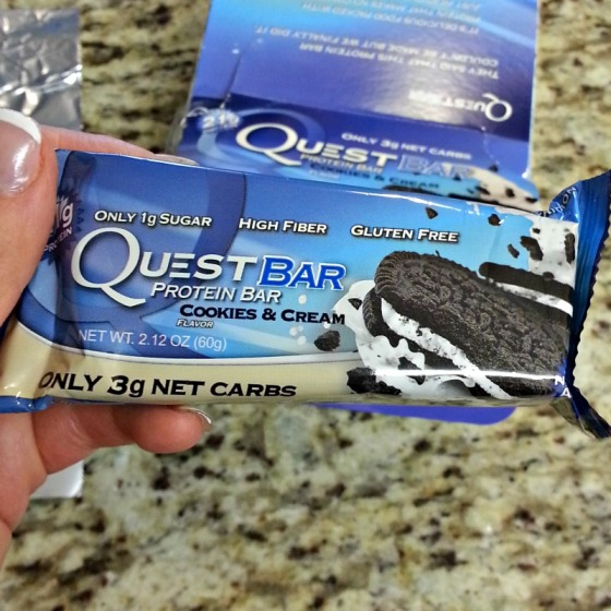 Cookies Cream Quest Bar