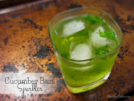 Cucumber Basil Sparkler