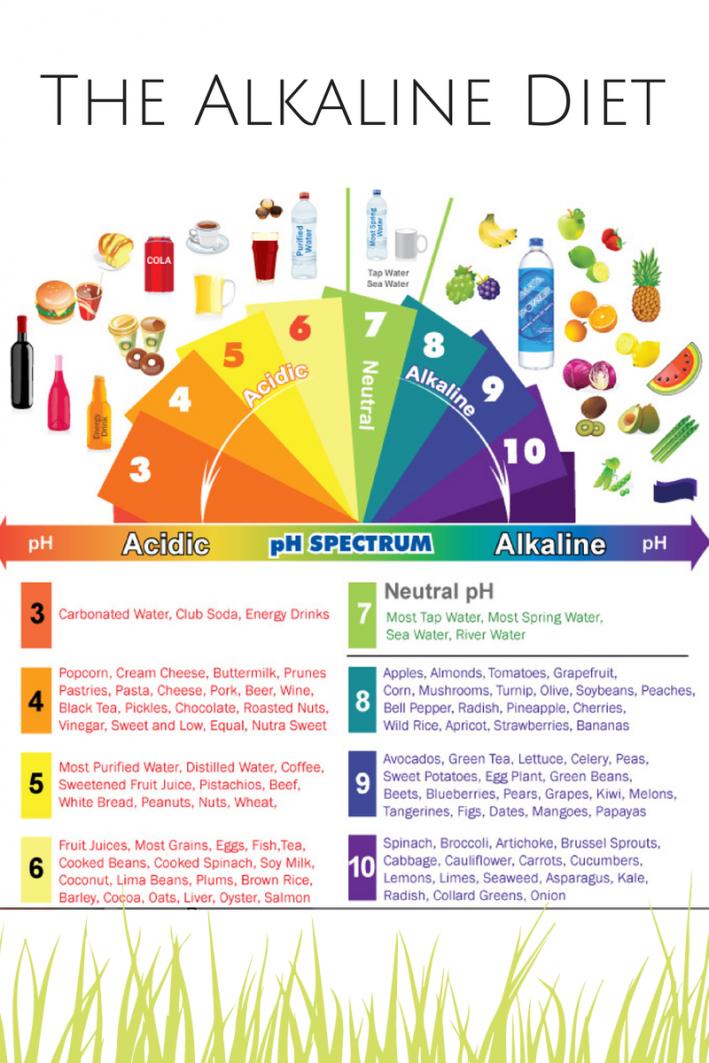 Alkaline Diet Food Table
