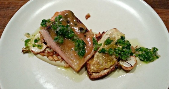 Haven Oakland Salmon Spaetzle Cabbage