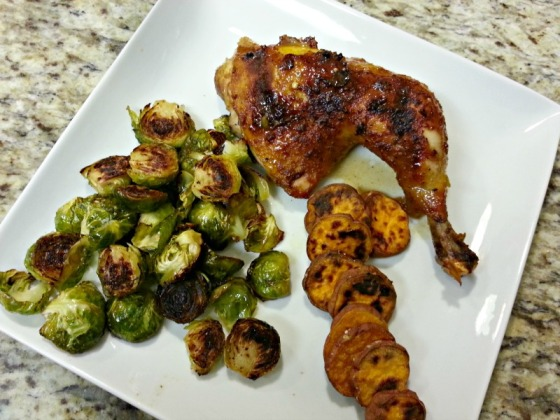 Piri Piri Spicy Orange Chicken Sweet Potato Brussels Sprouts
