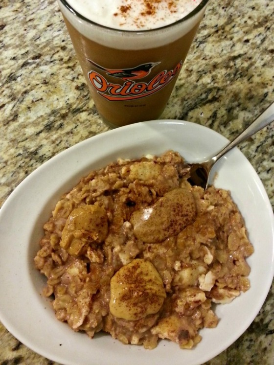 Protein Egg Oatmeal Peanut Almond Butter Coffee