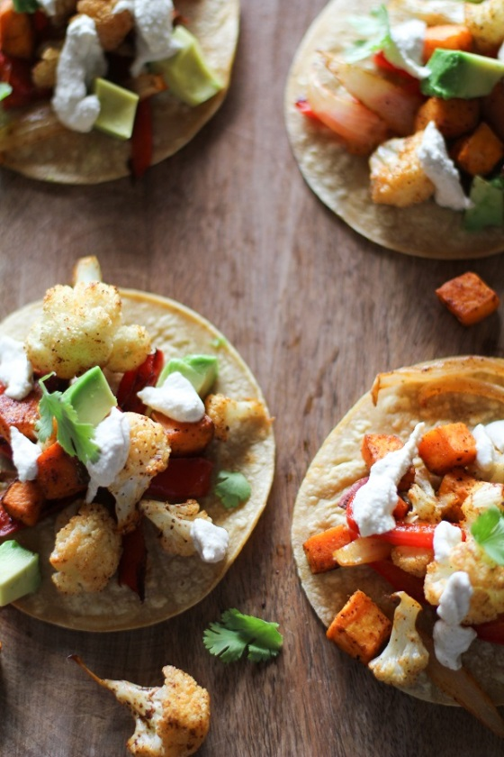 Roasted Vegetable Tacos with Cumin Cashew Crema Hummusapien Roasted Root