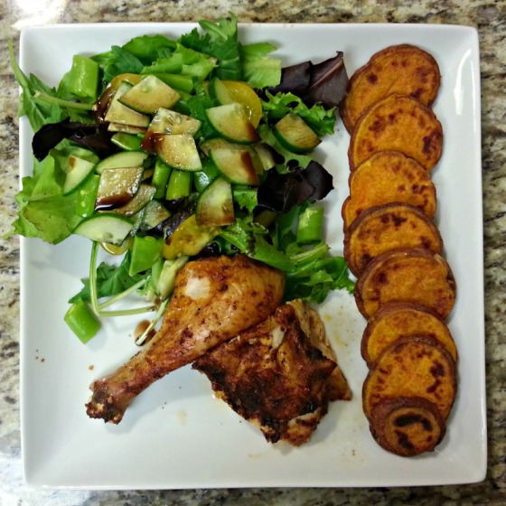 Southwest Roast Chicken Sweet Potato