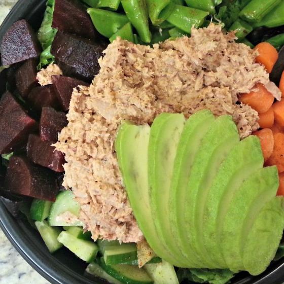 Tuna Salad Beets Avocado
