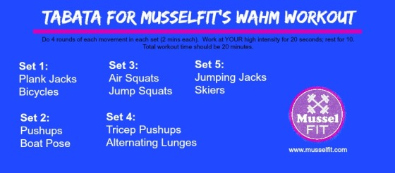 WAHM Tabata Workout 20 Minute Fat Burning Workout MusselFIT