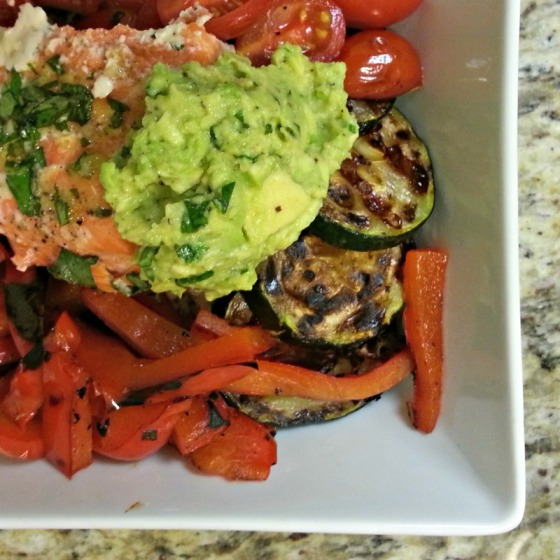 California Salmon Veggie Avocado Cauliflower Rice Bowl Half Baked Harvest