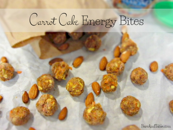 Carrot Cake Energy Bites - Barr & Table