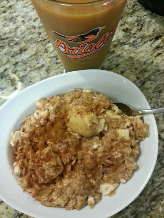 Egg Whites Oatmeal Coconut Cashew Peanut Butter Macadamia Coffee Cinnamon