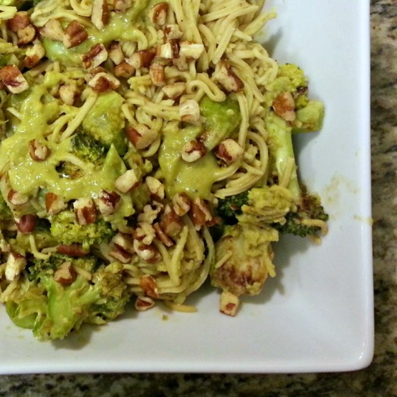 Explore Asian Soy Bean Noodles Brussels Sprouts Broccoli Cheesy Avocado Sauce