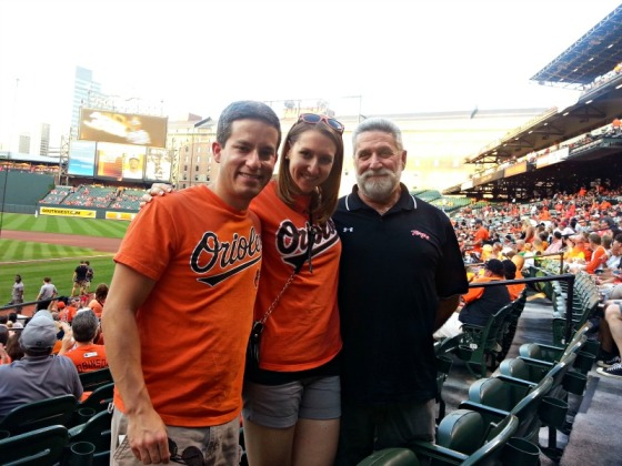 Nathan Dad Me Baltimore Orioles