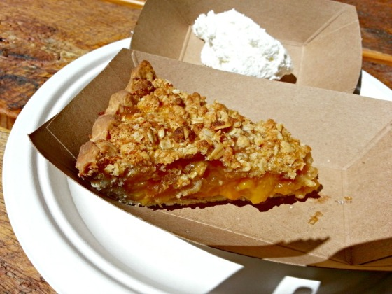 Perdition Smokehouse Peach Crumble Pie