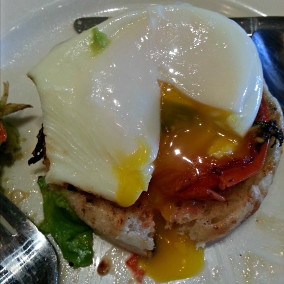 Pork Store Cafe Eggs Benedict Grilled Tomato Avocado