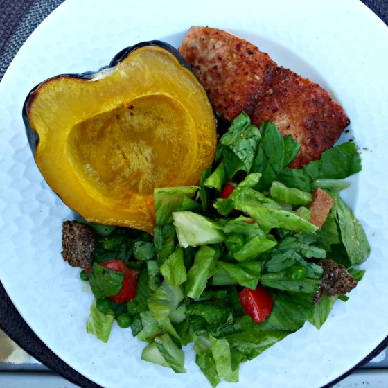 Salmon Acorn Squash Salad