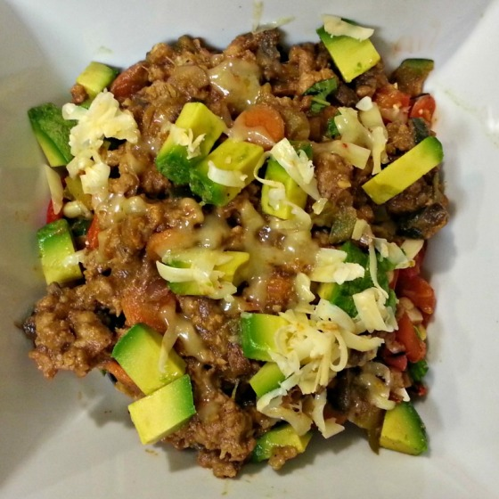Sloppy Joe Bowl Avocado Gouda Corn Salad