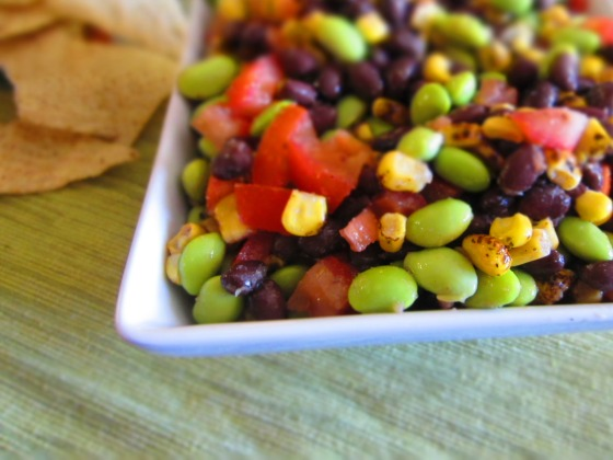 Southwestern Black Bean Edamame Salad