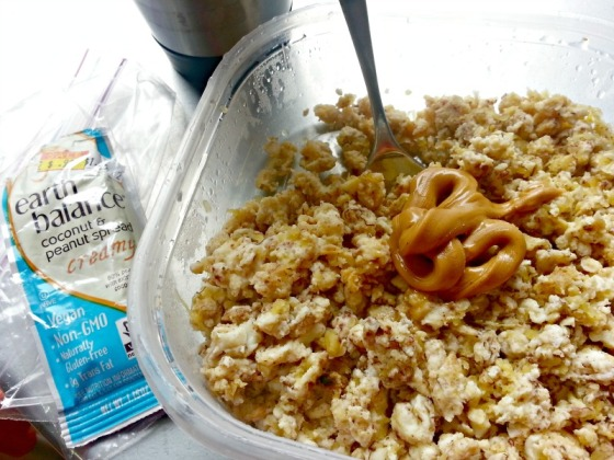 Sweet Breakfast Scramble Earth Balance Coconut Peanut Butter