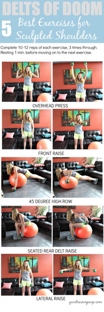 Delts of Doom Workout 5 Best Exercises for Sculpted Shoulders Trainer Paige