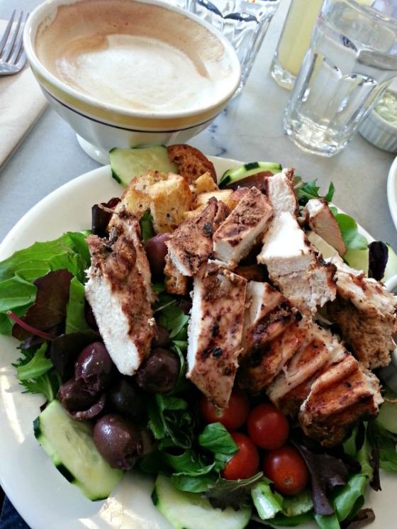 Elmwood Cafe Greek Salad Latte
