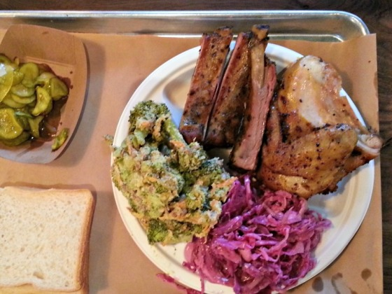 Perdition Smokehouse Chicken Ribs Broccoli Coleslaw Pickles