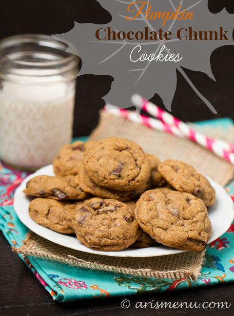 Pumpkin Chocolate Chunk Cookies Aris Menu