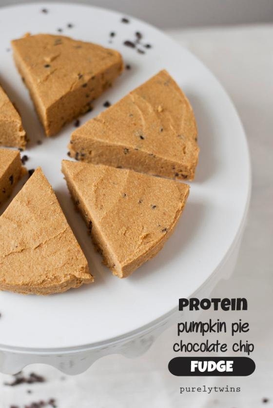 Pumpkin Pie Protein Chocolate Chip Fudge Purely Twins