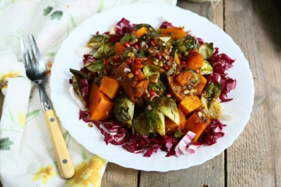 Roasted Pumpkin and Brussels Sprouts Angies Recipes