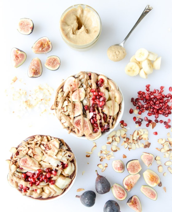 Autumn Acai Bowls with Vanilla Bean Cashew Butter How Sweet It Is