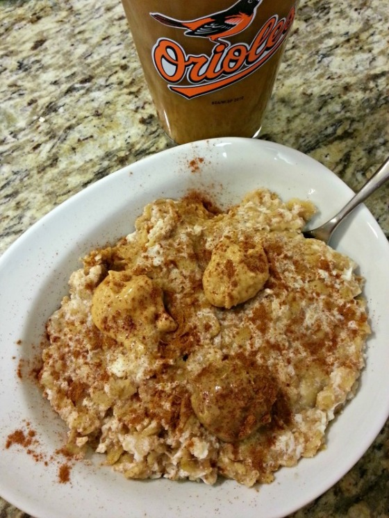 Egg White Oatmeal Protein Oats Baltimore Orioles Coconut Cashew Almond Peanut Butter