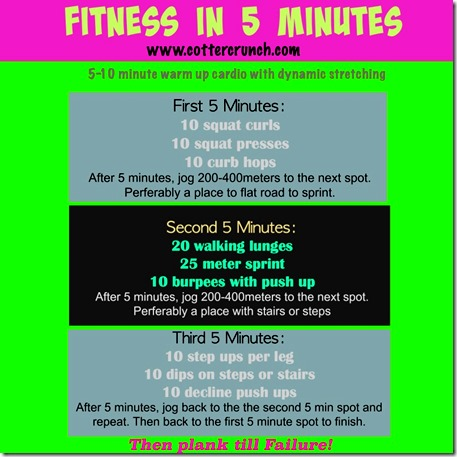 Fitness in 5 Minutes Cotter Crunch