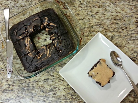 Protein Chocolate Almond Butter Brownies