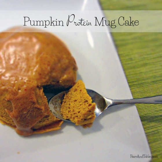 Pumpkin Protein Mug Cake | Barr & Table