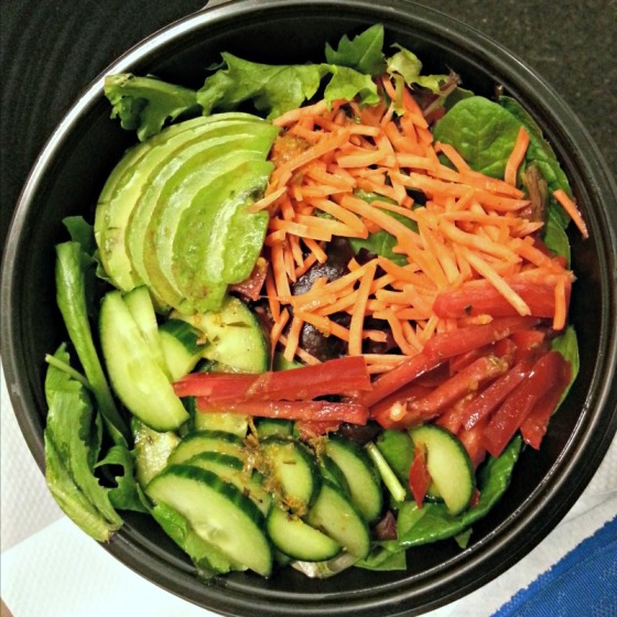 Salad Avocado Carrots Red Pepper Cucumber