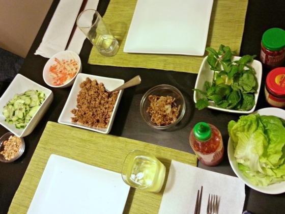 Crispy Thai Pork Lettuce Wraps
