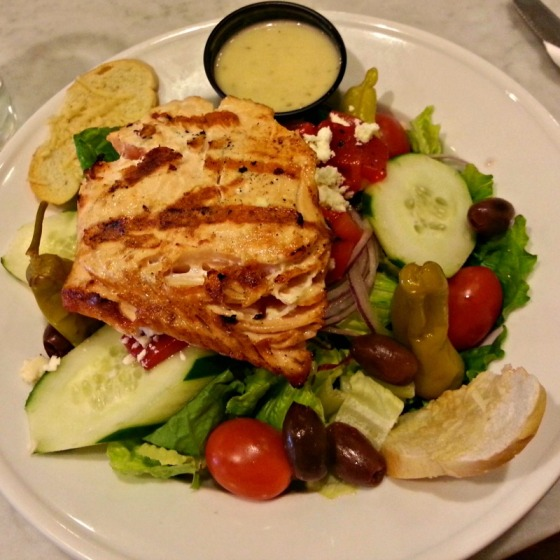 Grilled Salmon Mediterranean Greek Salad