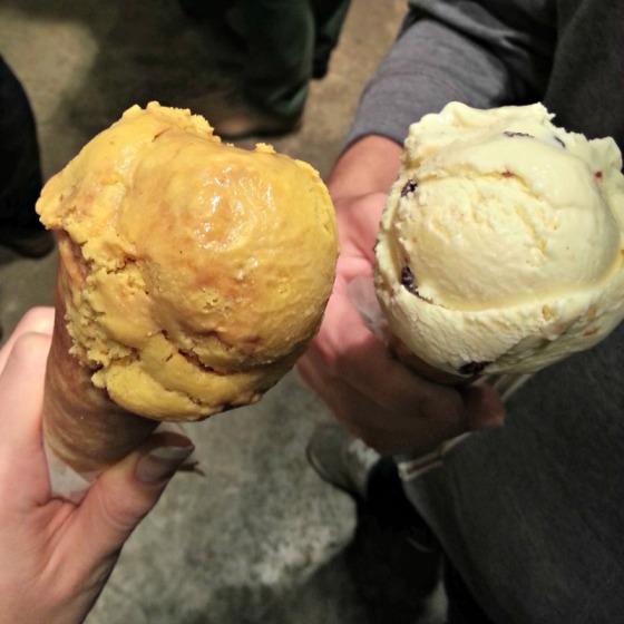 Ici Ice Cream Pumpkin Caramel Swirl Orange Brandied Currant