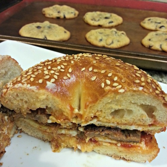 Laughing Cow Cheese Egg Bagel Pork NY Times Chocolate Chip Cookies