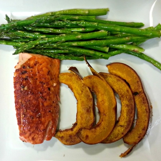 Maple Glazed Salmon Sugar Pumpkin Asparagus