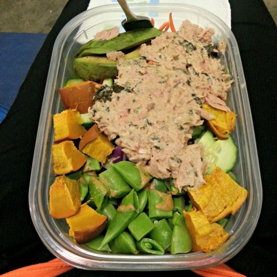 Tuna Salad Pumpkin Avocado Sugar Snap Peas