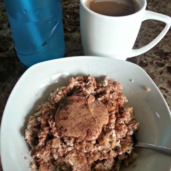 Protein Egg White Oatmeal Oats Fresh Almond Butter Coffee