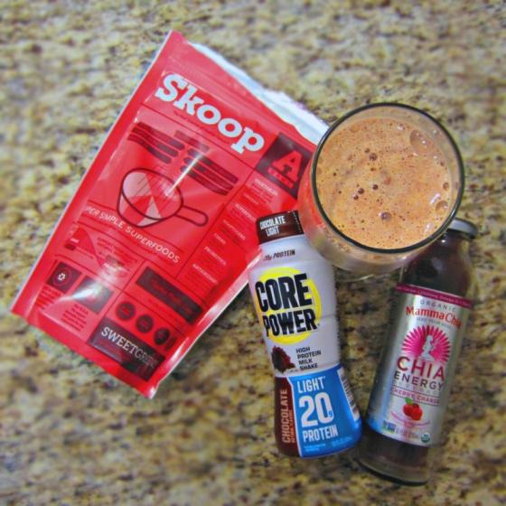 Skoop Core Power Mamma Chia Chocolate Cherry Green Smoothie
