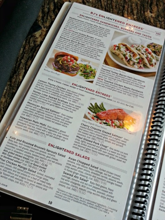 BJ's Brewhouse Enlightened Entrees