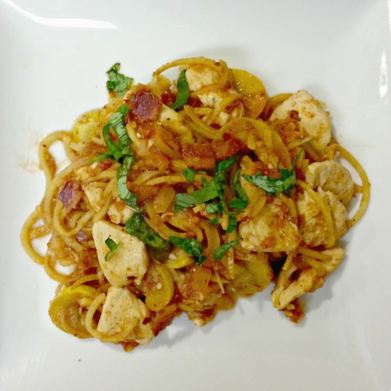 Chicken Bacon Fra Diavolo Potato Noodles