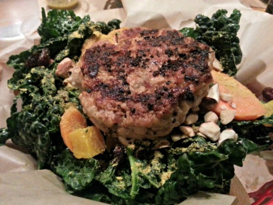 Farm Burger Kale Salad Chicken