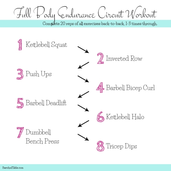 Full Body Endurance Circuit Workout | Barr & Table