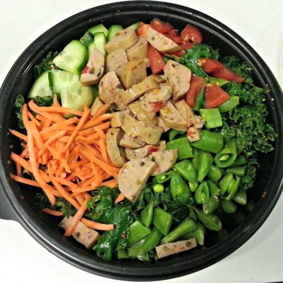 Kale Salad Trader Joes Jalapeno Chicken Sausage