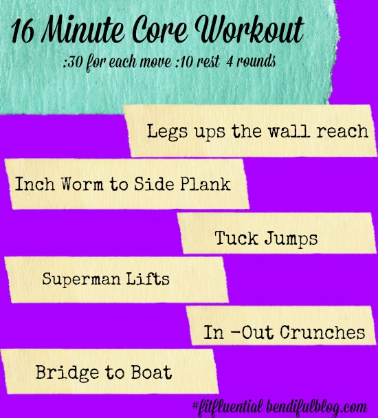 New Year's At Home Core Workout - Bendiful Blog
