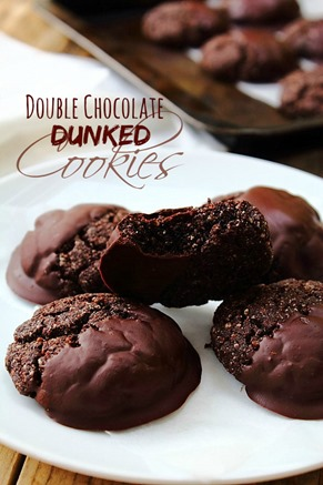 Paleo Double Chocolate Dunked Cookies Peachy Palate
